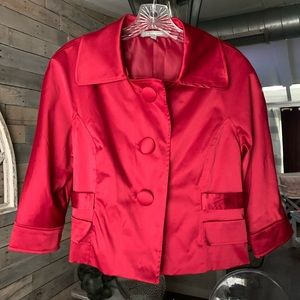 Satin Red Blazer Jacket